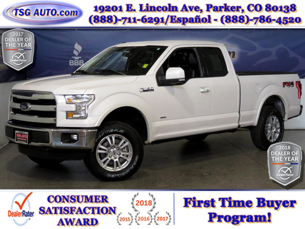 2015 Ford F-150 Lariat Super Cab 2.7L V6 Turbo 4WD W/Leather