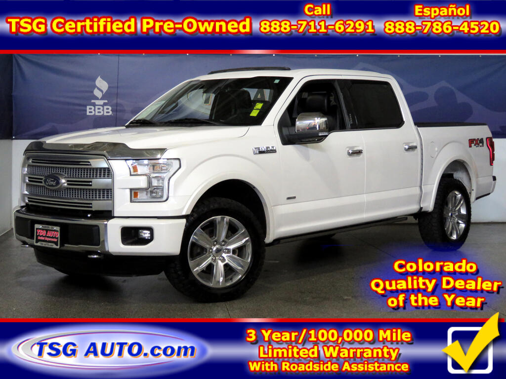 2015 Ford F-150 Platinum SuperCrew 3.5L V6 Turbo 4WD
