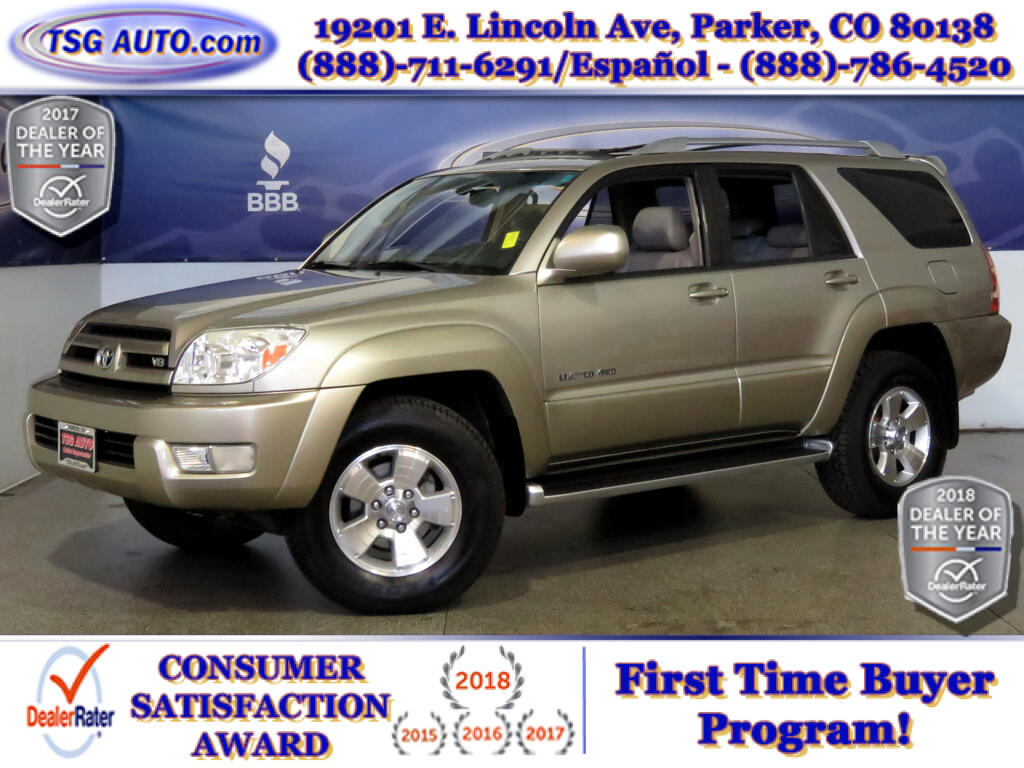 2004 Toyota 4Runner Limited 4.7L V8 4WD W/Leather SunRoof