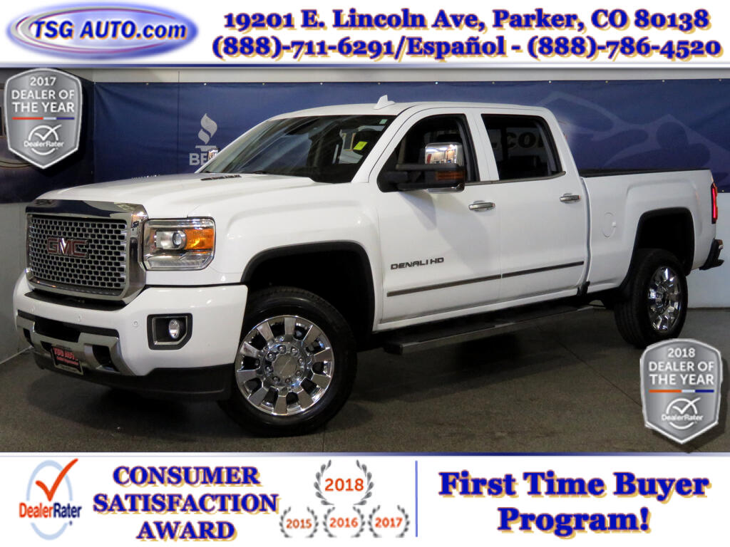 2016 GMC Sierra 2500HD Denali Crew Cab 6.6L V8 Turbo 4WD W/NAV Leather