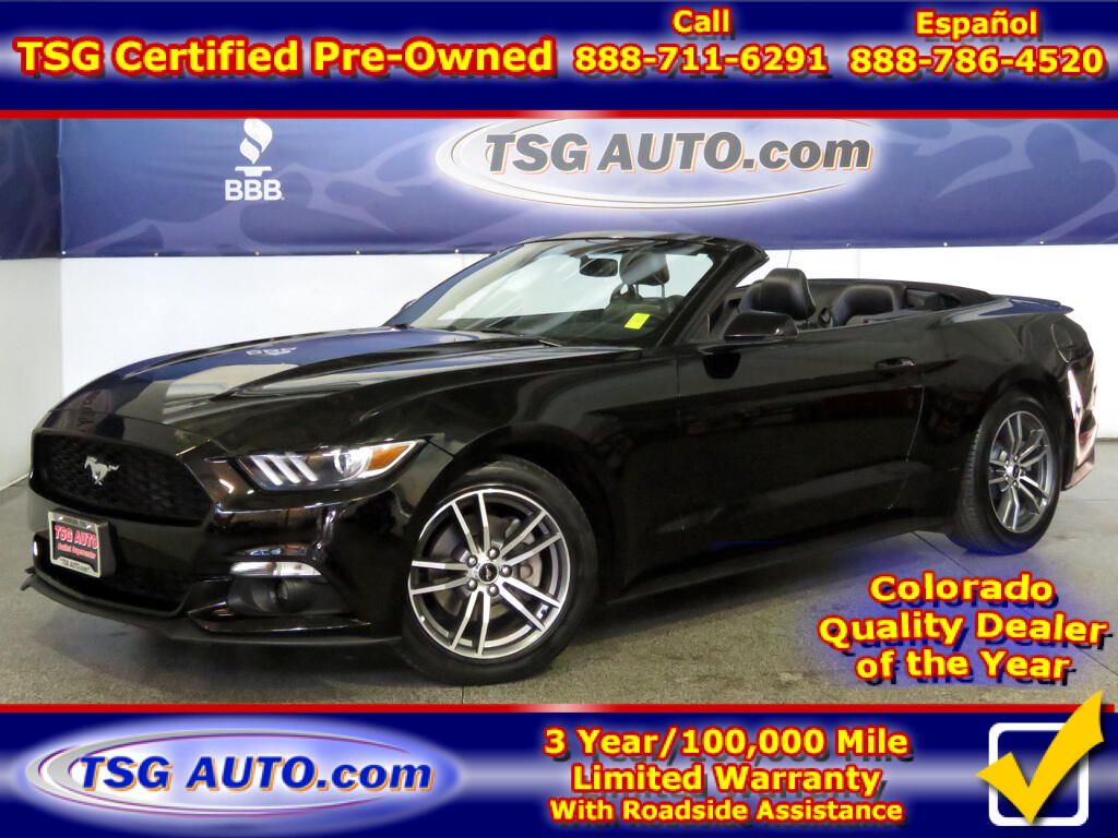 2016 Ford Mustang Premium Convertible 2.3L I4 ECO Boost W/Leather