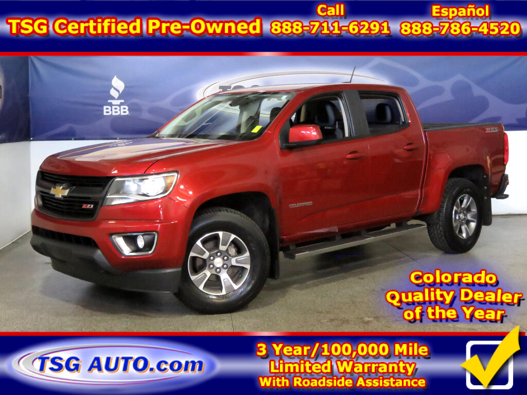2015 Chevrolet Colorado Z71 Crew Cab 3.6L V6 4WD W/Leather