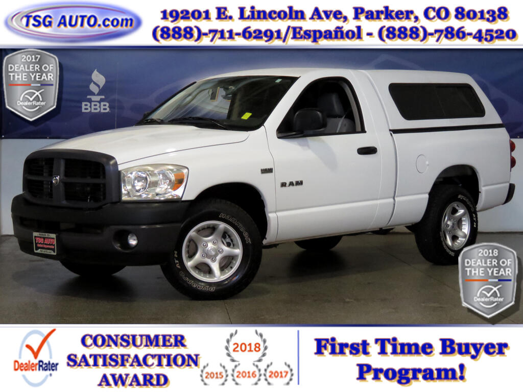 2008 Dodge Ram 1500 ST Regular Cab 5.7L V8 W/Topper