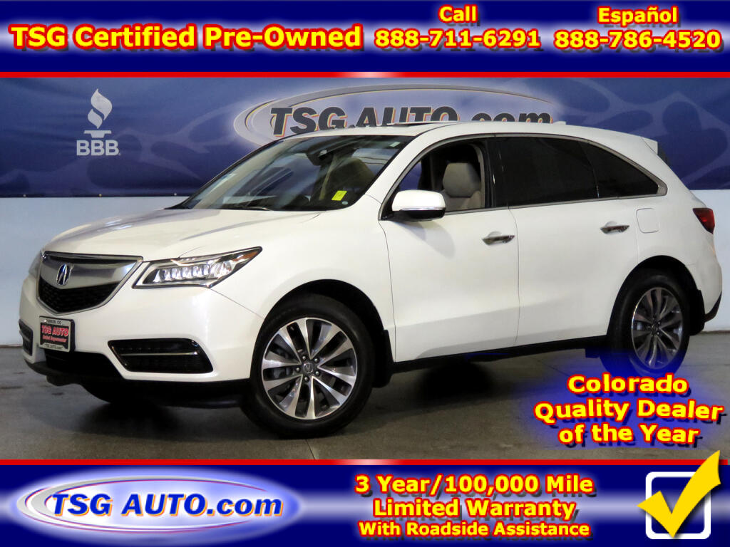 2016 Acura MDX Tech 3.5L V6 AWD W/NAV Leather SunRoof