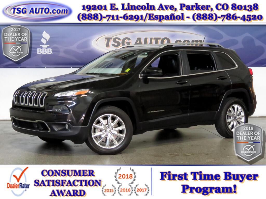 2014 Jeep Cherokee Limited 3.2L V6 AWD W/NAV Leather