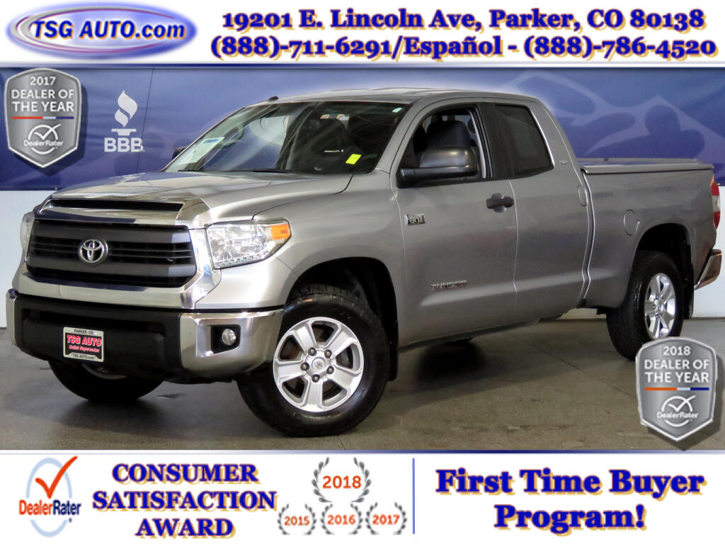2014 Toyota Tundra SR5 Double Cab 5.7L V8 4WD W/Bed Cover