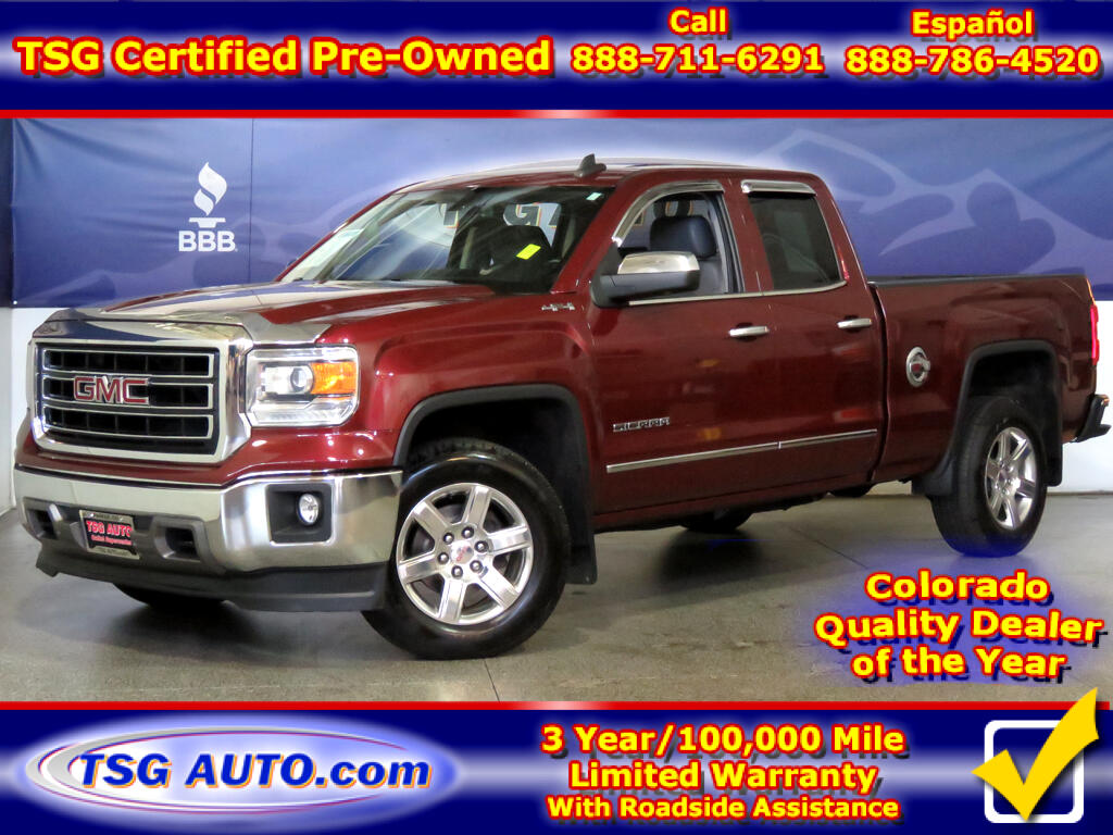2015 GMC Sierra 1500 SLT Double Cab 5.3L V8 4WD W/Leather