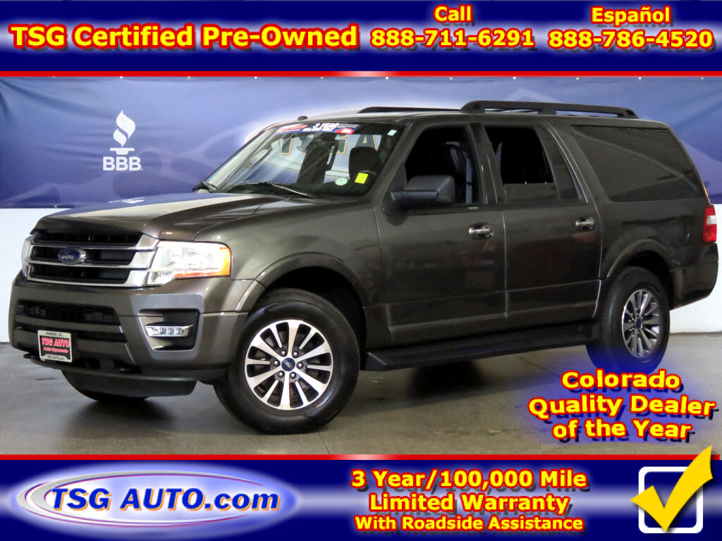 2017 Ford Expedition EL XLT 3.5L V6 Turbo 4WD W/Leather ThirdRow