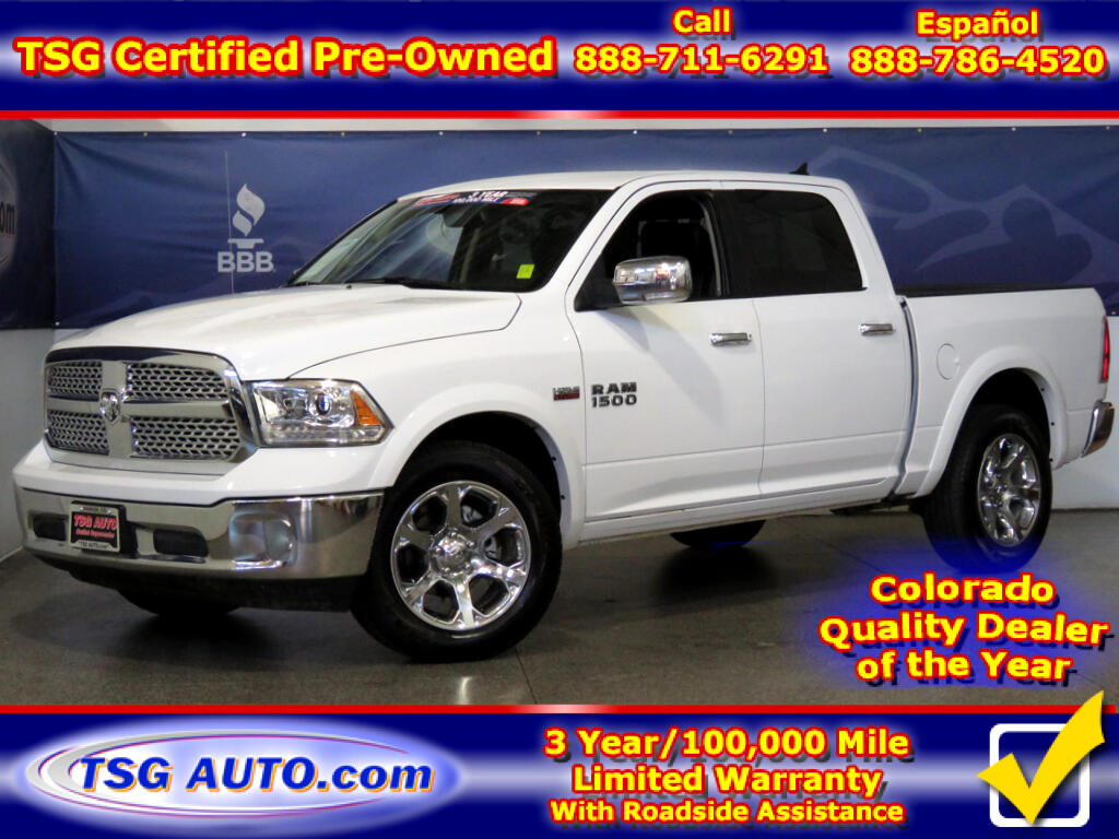 2018 RAM 1500 Laramie Crew Cab 5.7L V8 4WD W/leather
