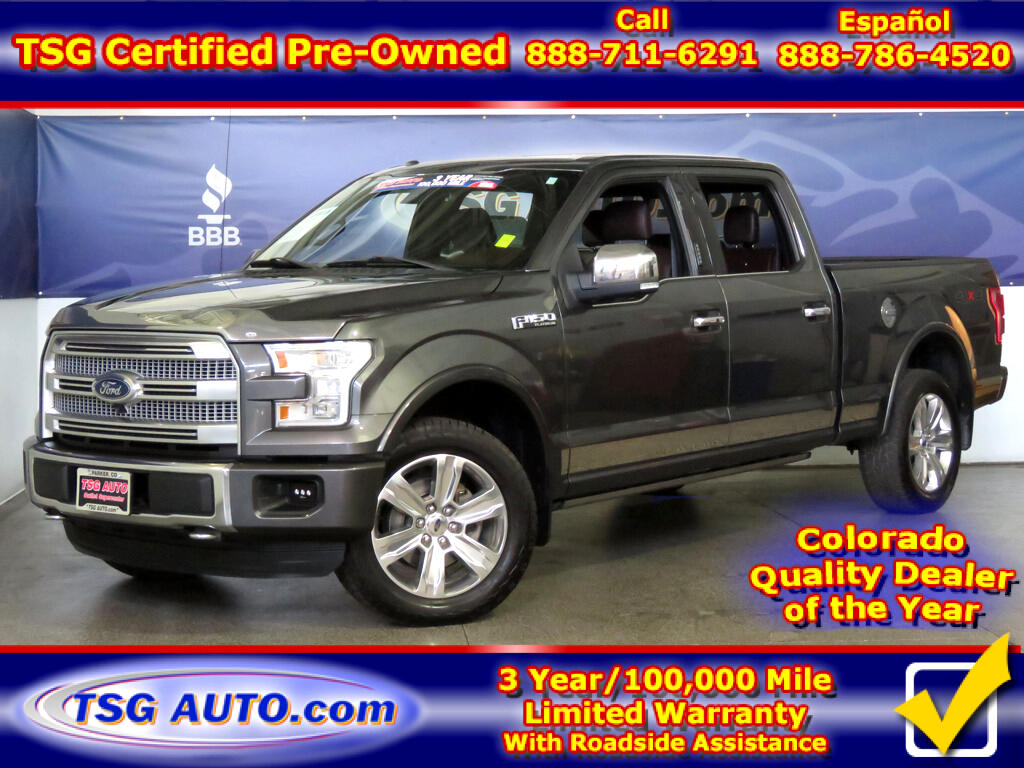 2015 Ford F-150 Platinum SuperCrew 5.0L V8 4WD W/NAV Leather