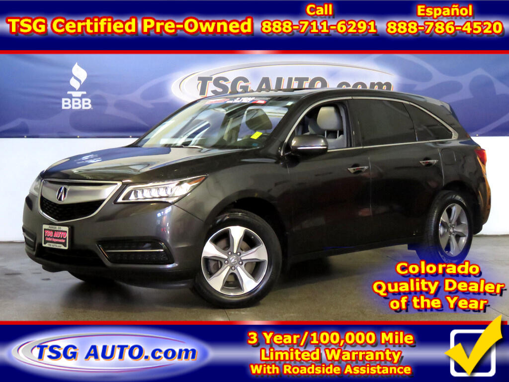 2016 Acura MDX 3.5L V6 W/Leather SunRoof ThirdRow