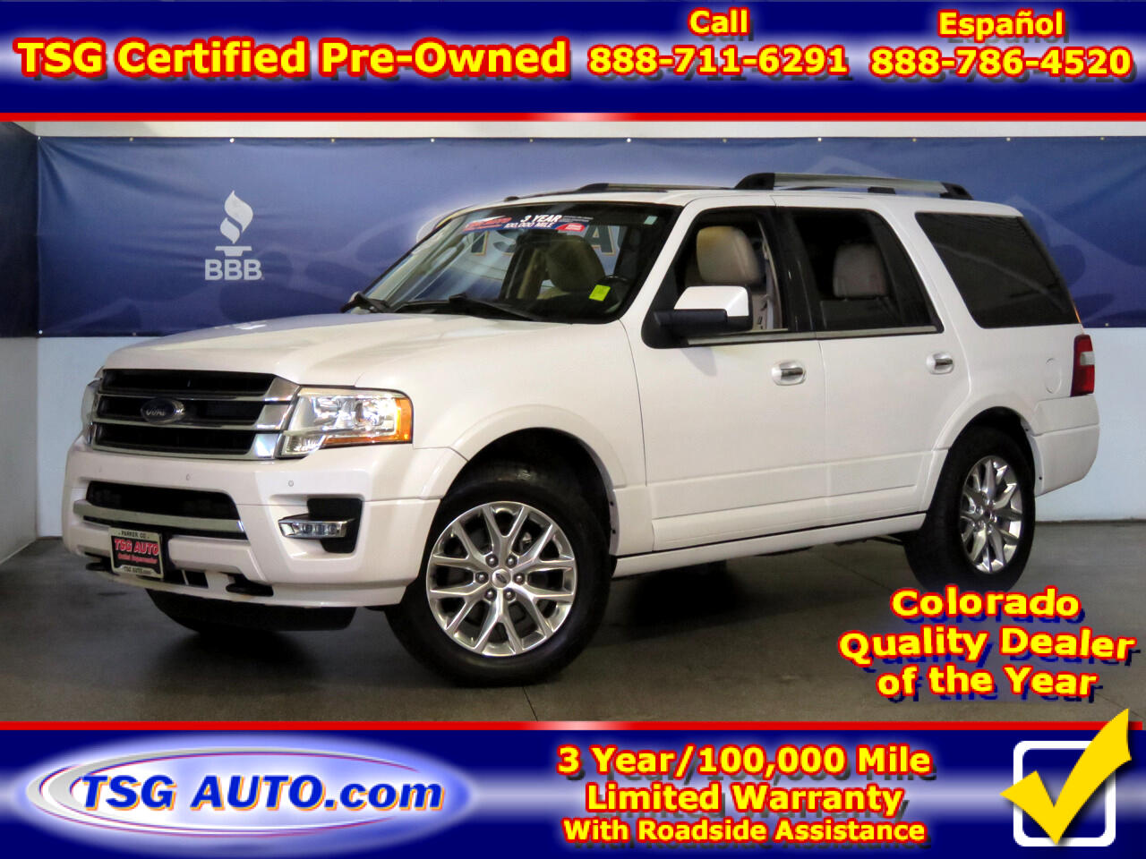 2015 Ford Expedition Limited 3.5L V6 Turbo 4WD W/Leather ThirdRow