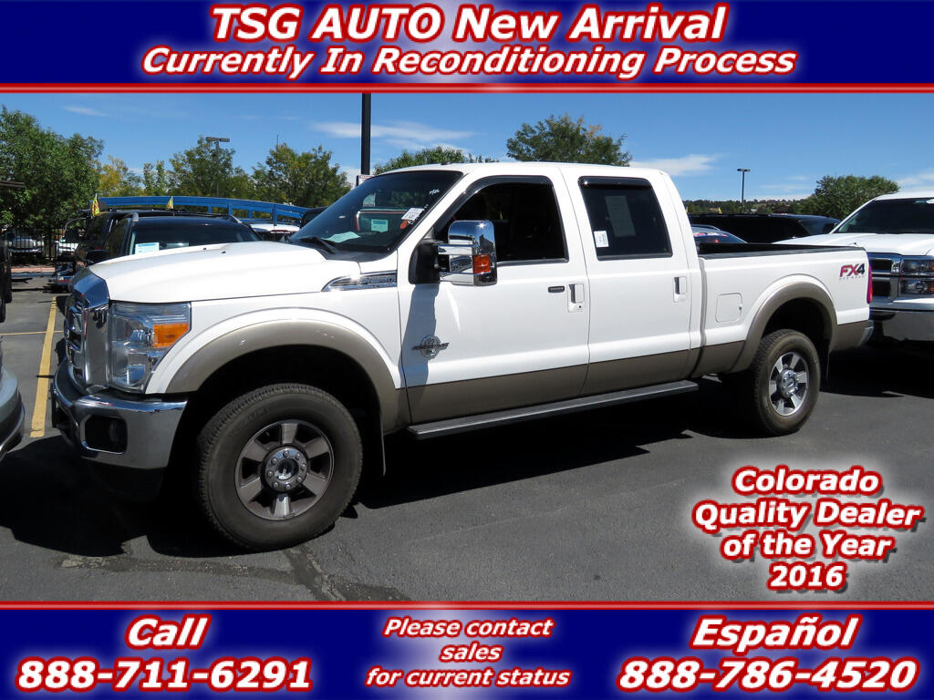 2014 Ford Super Duty F-250 SRW Lariat Super Crew 6.7L V8 Turbo Diesel 4WD