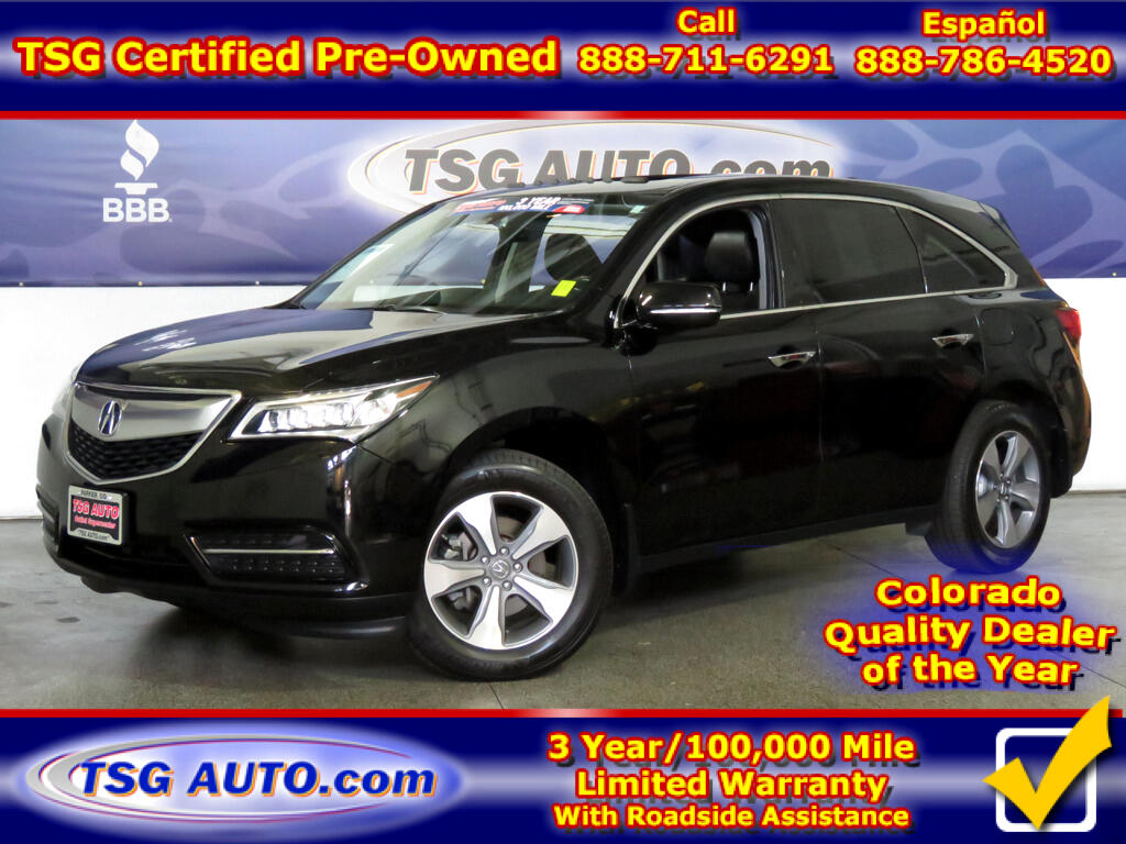 2016 Acura MDX 3.5L V6 AWD W/Leather SunRoof