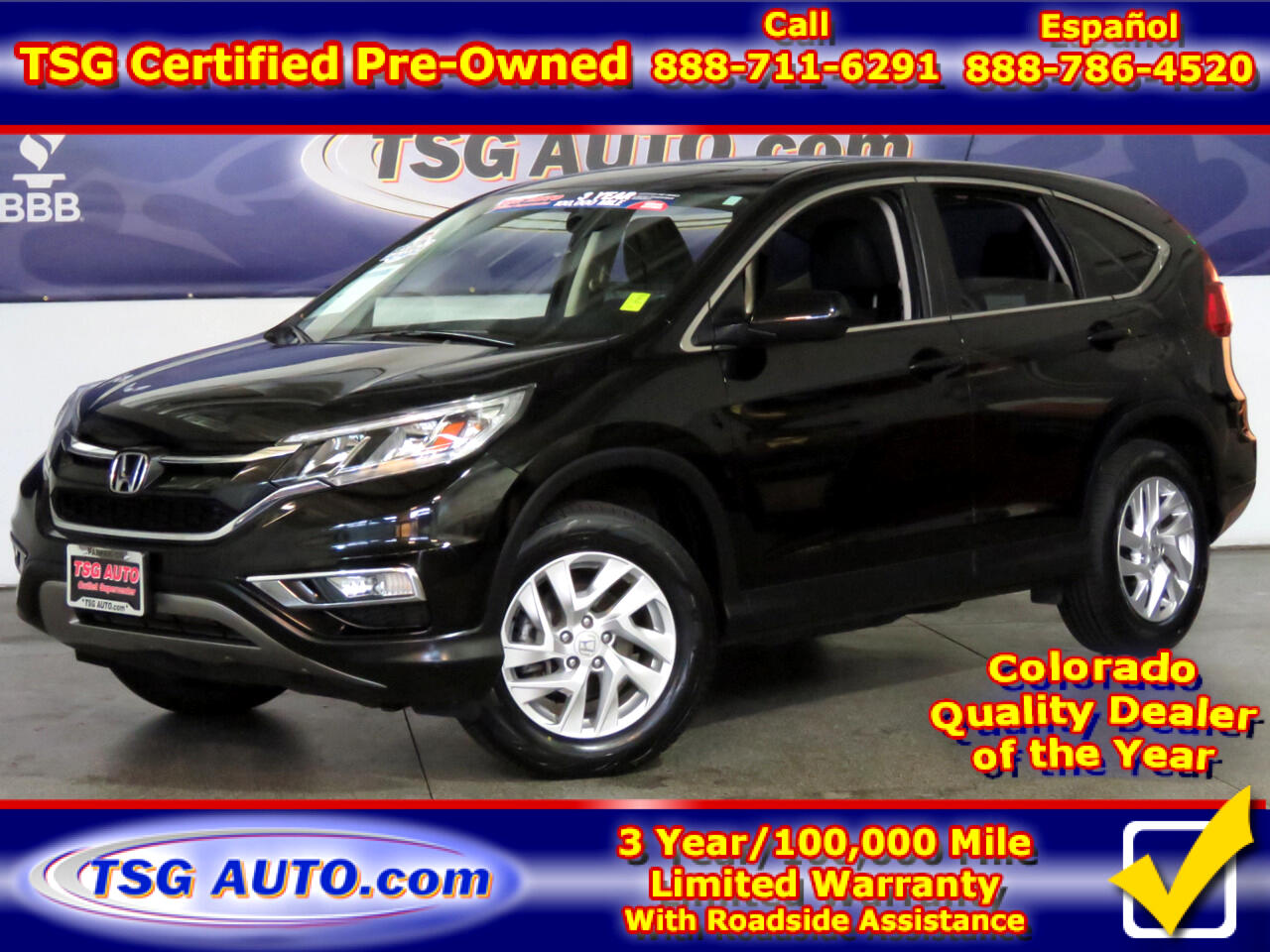 2015 Honda CR-V EX 2.4L I4 AWD W/SunRoof