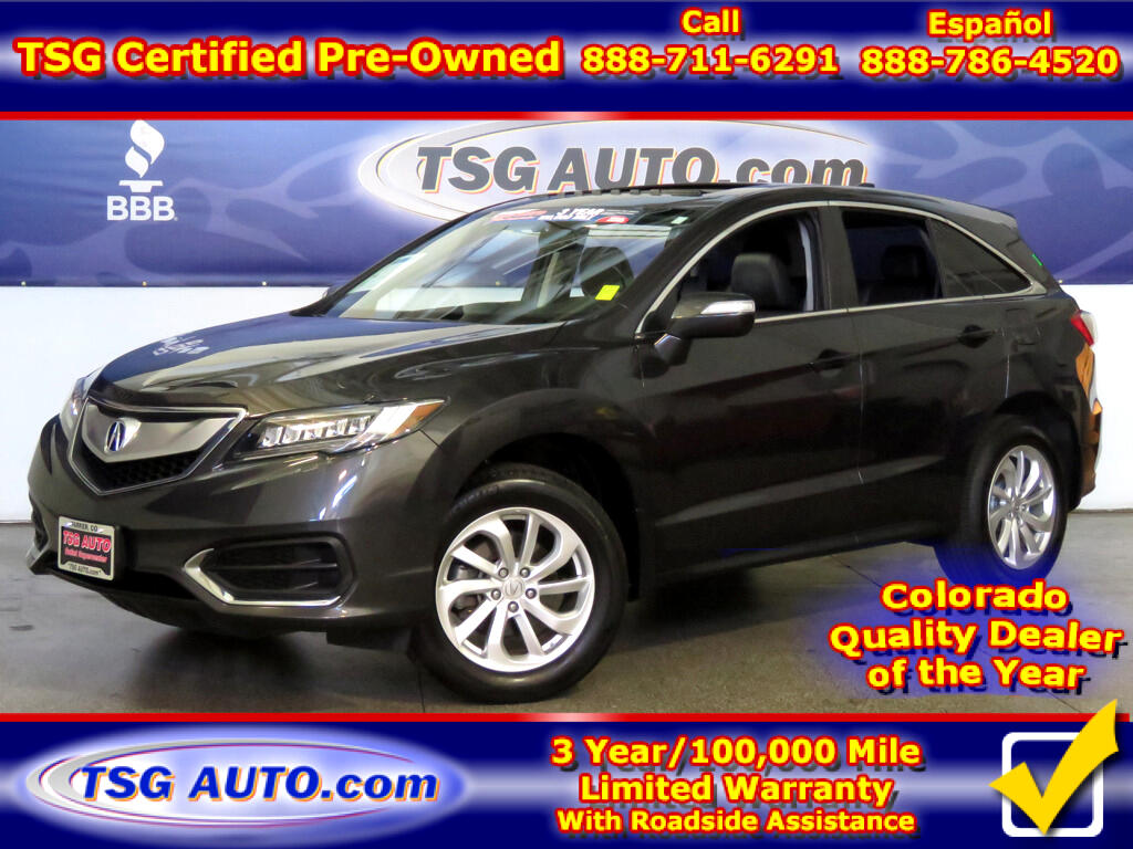 2016 Acura RDX 3.5L V6 AWD W/Leather SunRoof