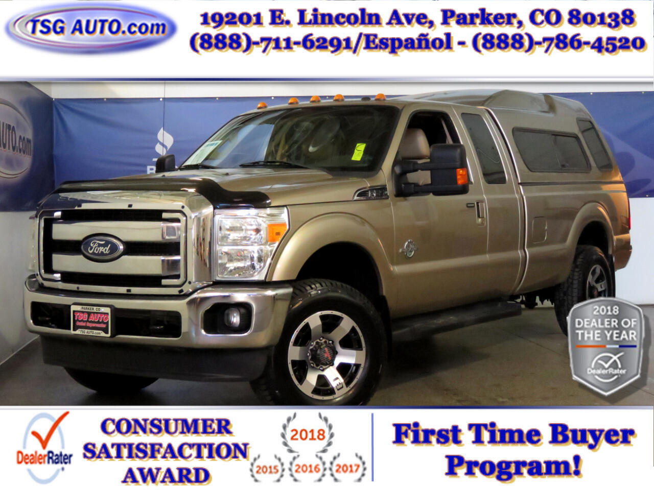 2011 Ford Super Duty F-250 SRW Lariat Super Cab 6.7L V8 4WD W/Topper