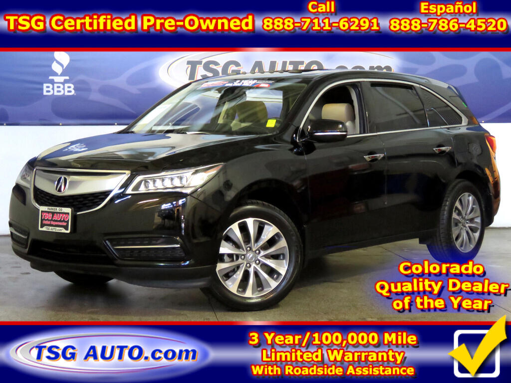 2015 Acura MDX Tech 3.5L V6 AWD W/NAV Leather