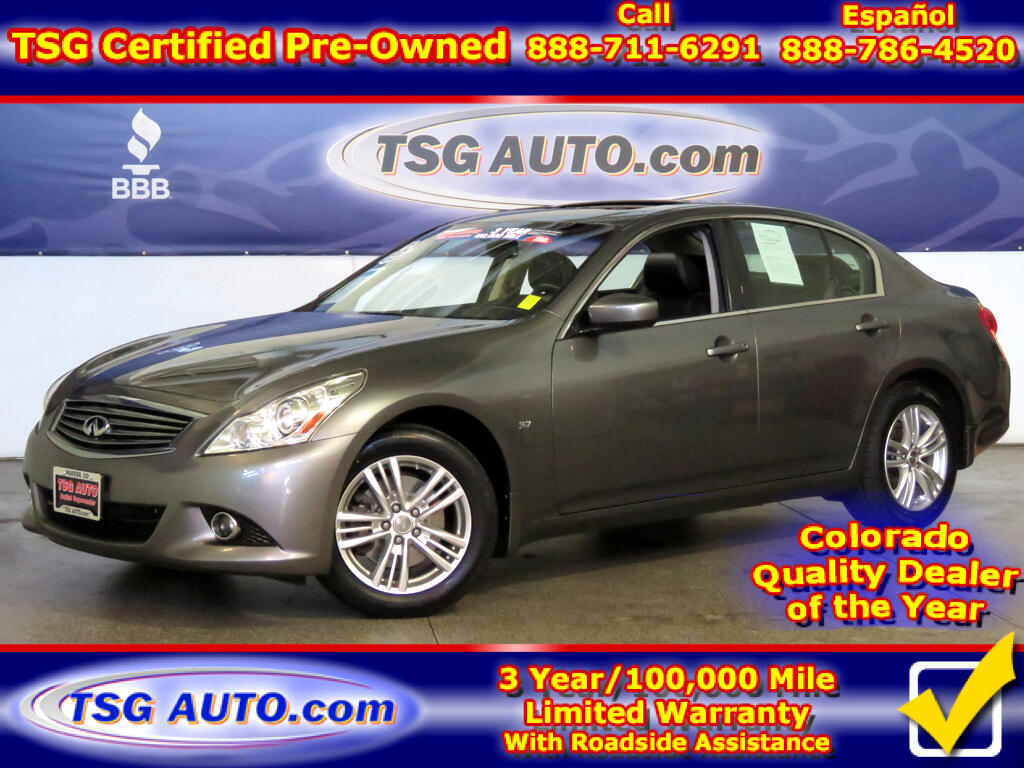 2015 Infiniti Q40 3.7L V6 AWD W/Leather SunRoof