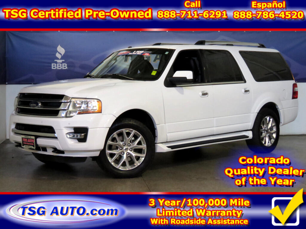 2017 Ford Expedition EL Limited 3.5L V6 Turbo 4WD W/NAV Leather