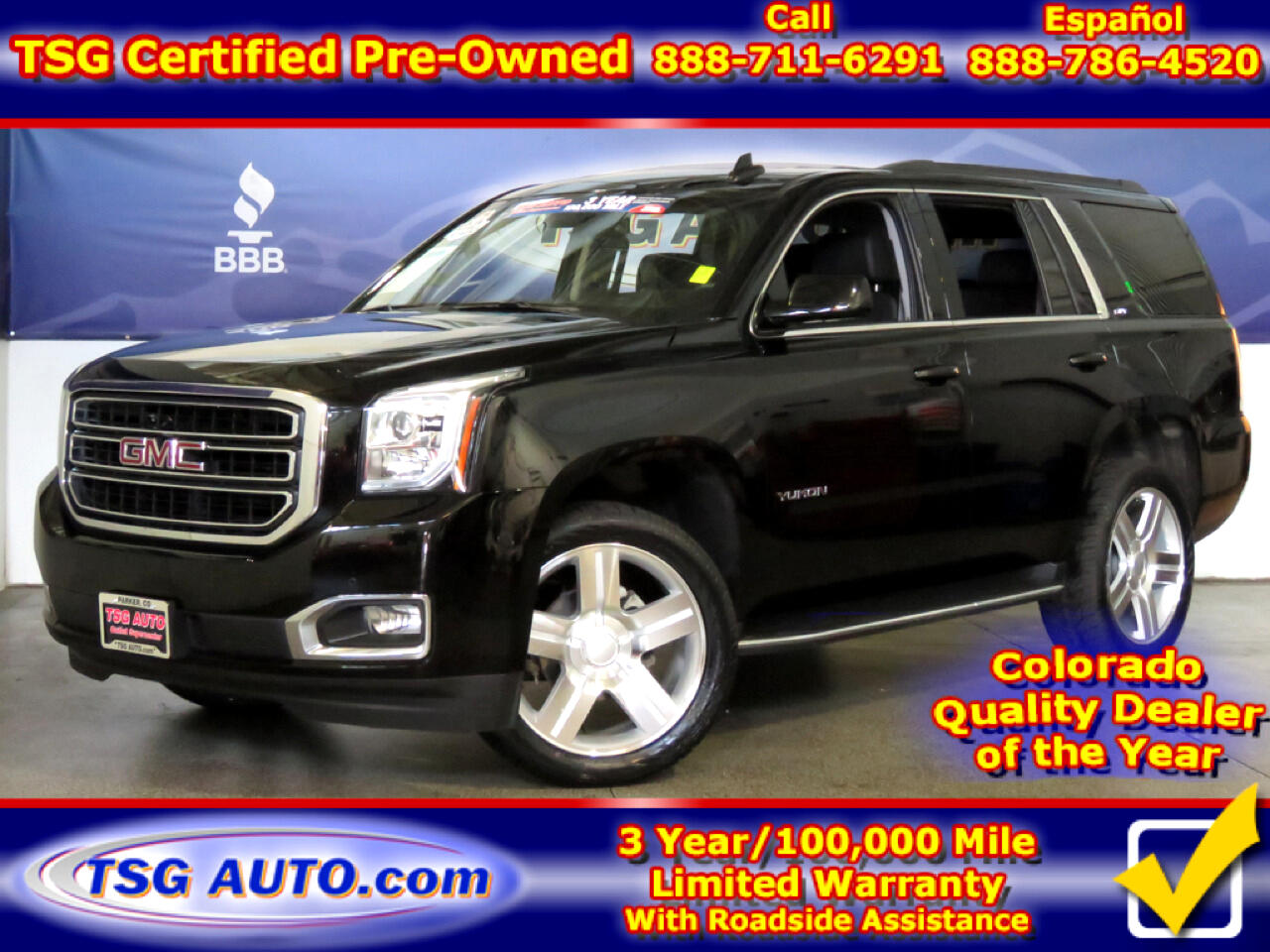 2018 GMC Yukon SLT 5.3L V8 4WD W/Leather SunRoof