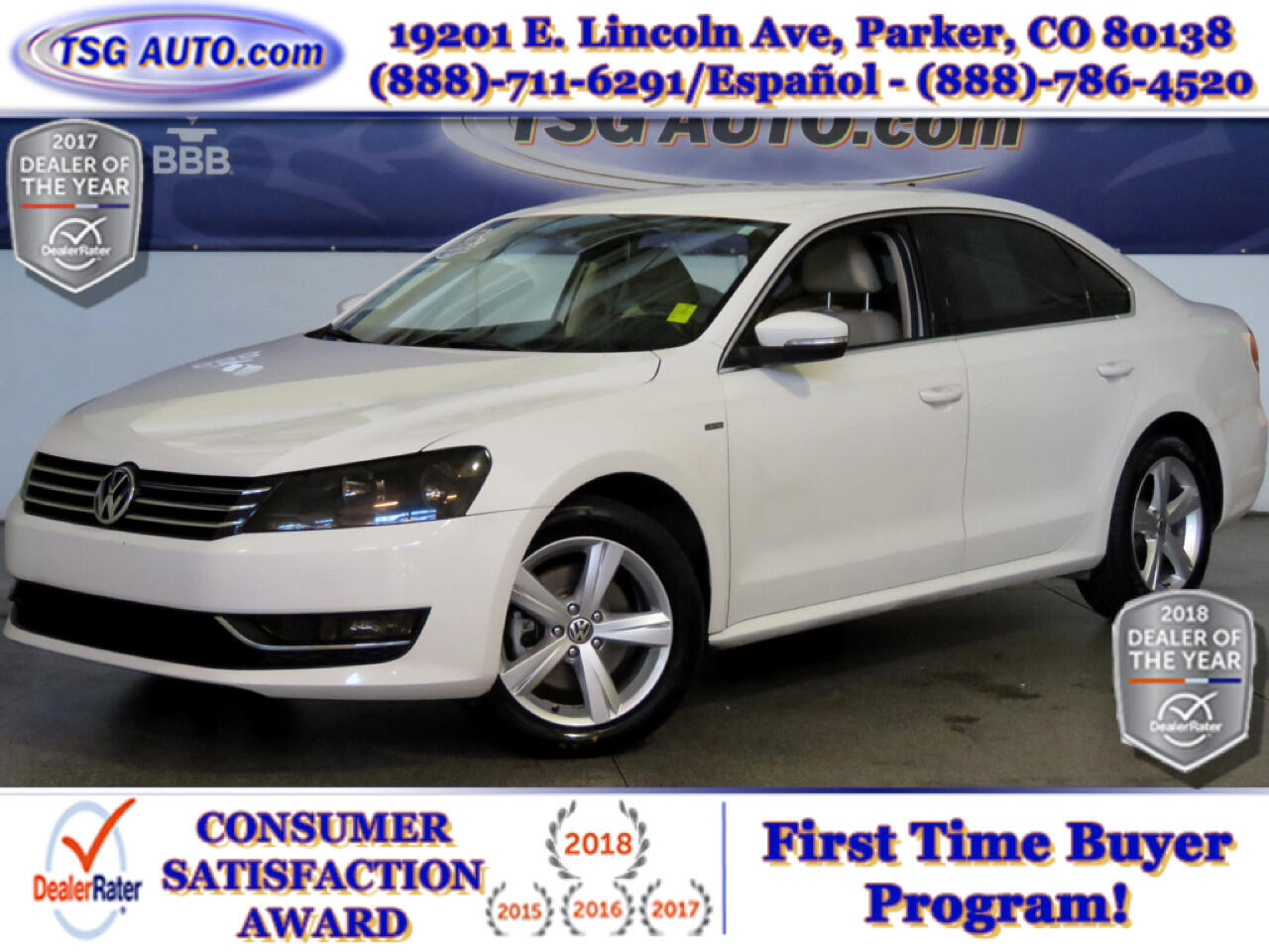 2015 Volkswagen Passat Limited Edition 1.8L I4 Turbo W/Leather