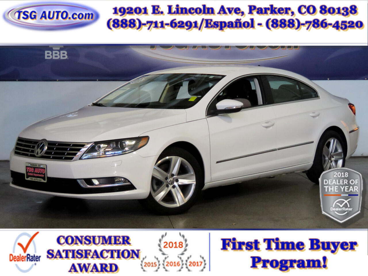 2014 Volkswagen CC Sport 2.0L I4 Turbo W/Leather
