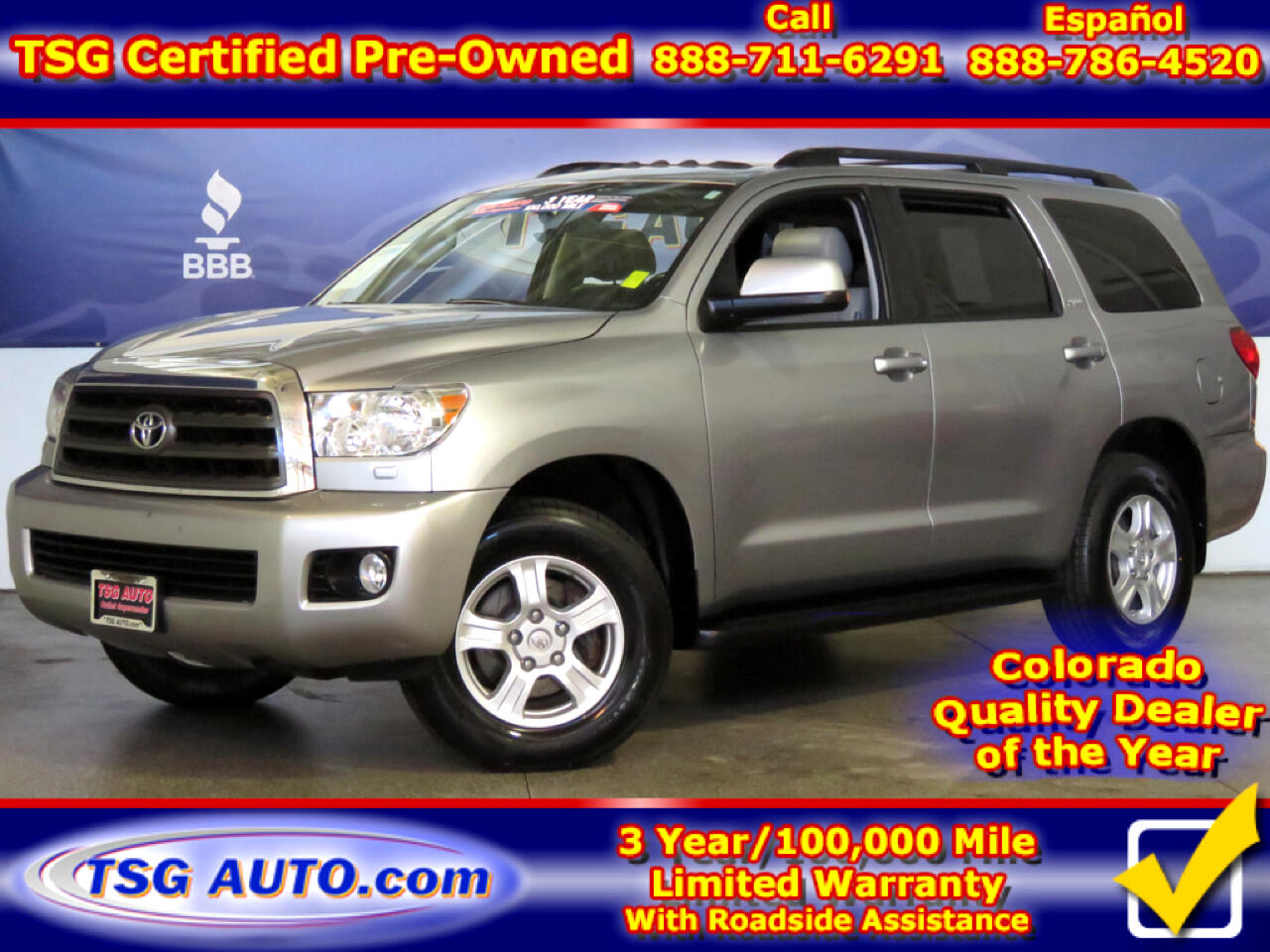 2012 Toyota Sequoia SR5 4.6L V8 4WD W/Leather
