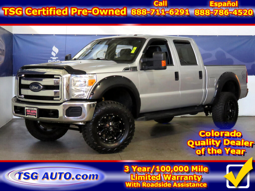 2015 Ford Super Duty F-250 SRW XLT Super Crew 6.2L V8 4WD W/Leather