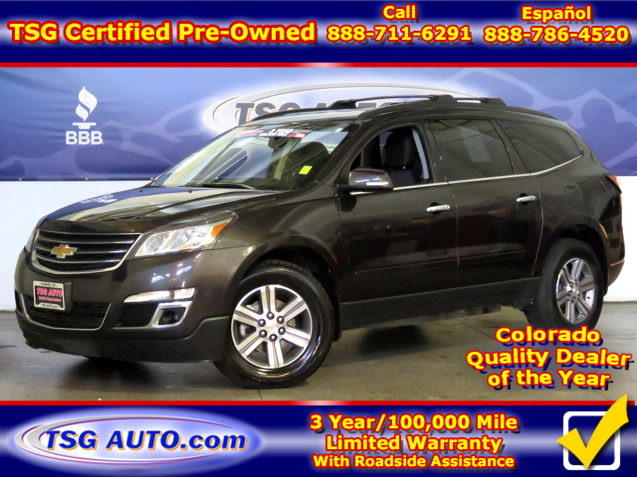 2017 Chevrolet Traverse LT 3.6L V6 4WD W/ThirdRow