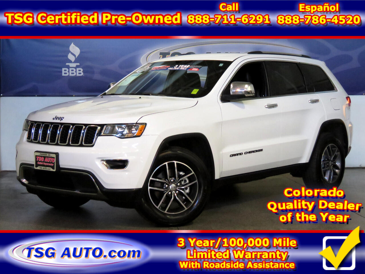 2018 Jeep Grand Cherokee Limited 3.6L V6 4WD W/Leather
