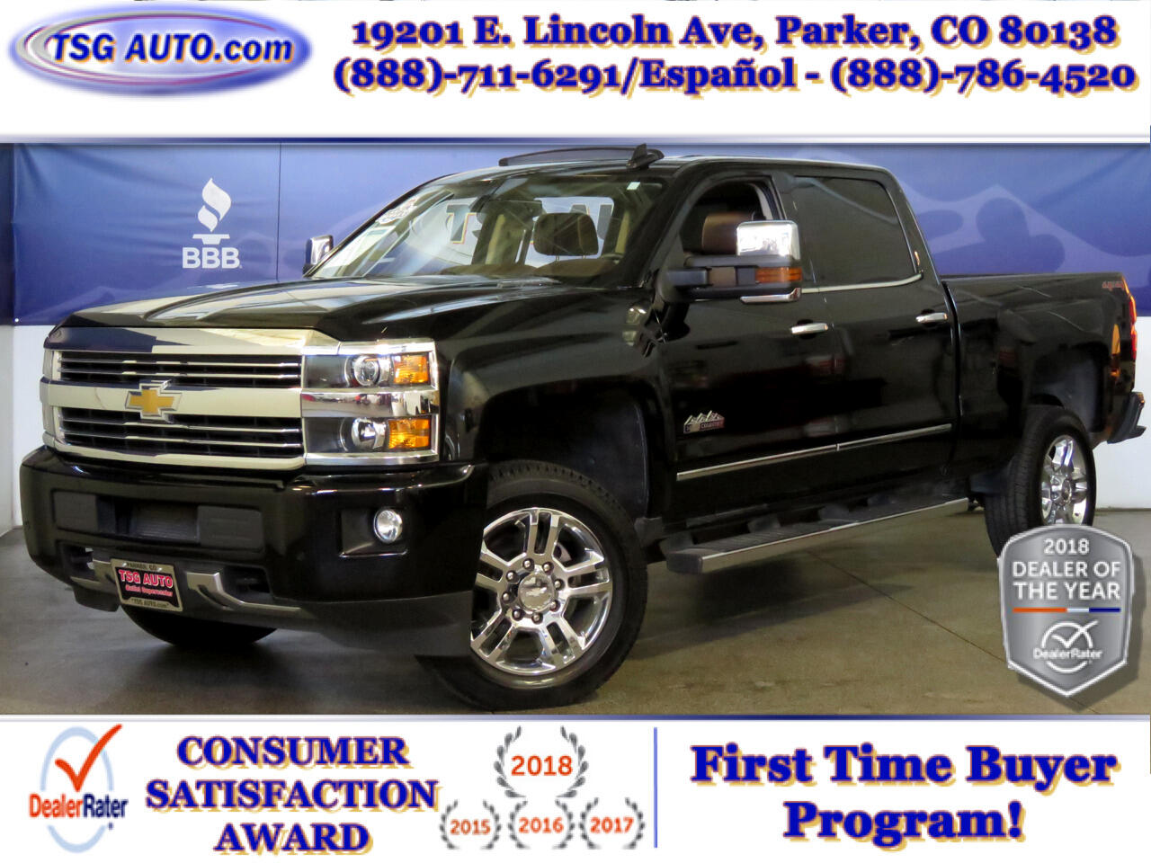 "2015 Chevrolet Silverado 2500HD 4WD Crew Cab 153.7"" High Country"
