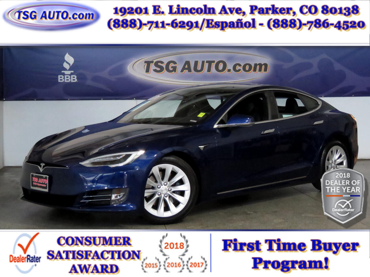 2017 Tesla Model S 2016.5 4dr Sdn AWD 75D