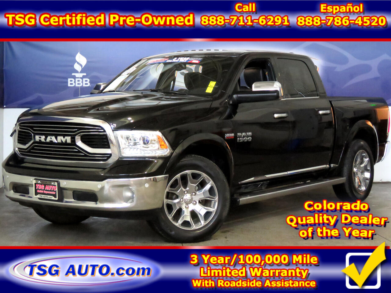 "2017 RAM 1500 4WD Crew Cab 140.5"" Limited"
