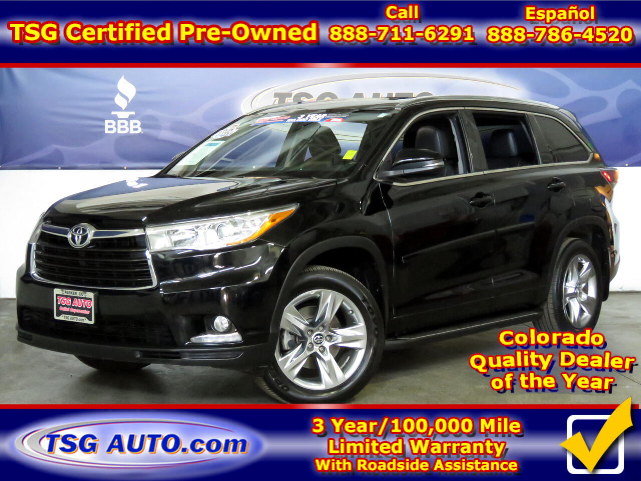 2016 Toyota Highlander 4dr V6 4WD Limited w/3rd Row (Natl)