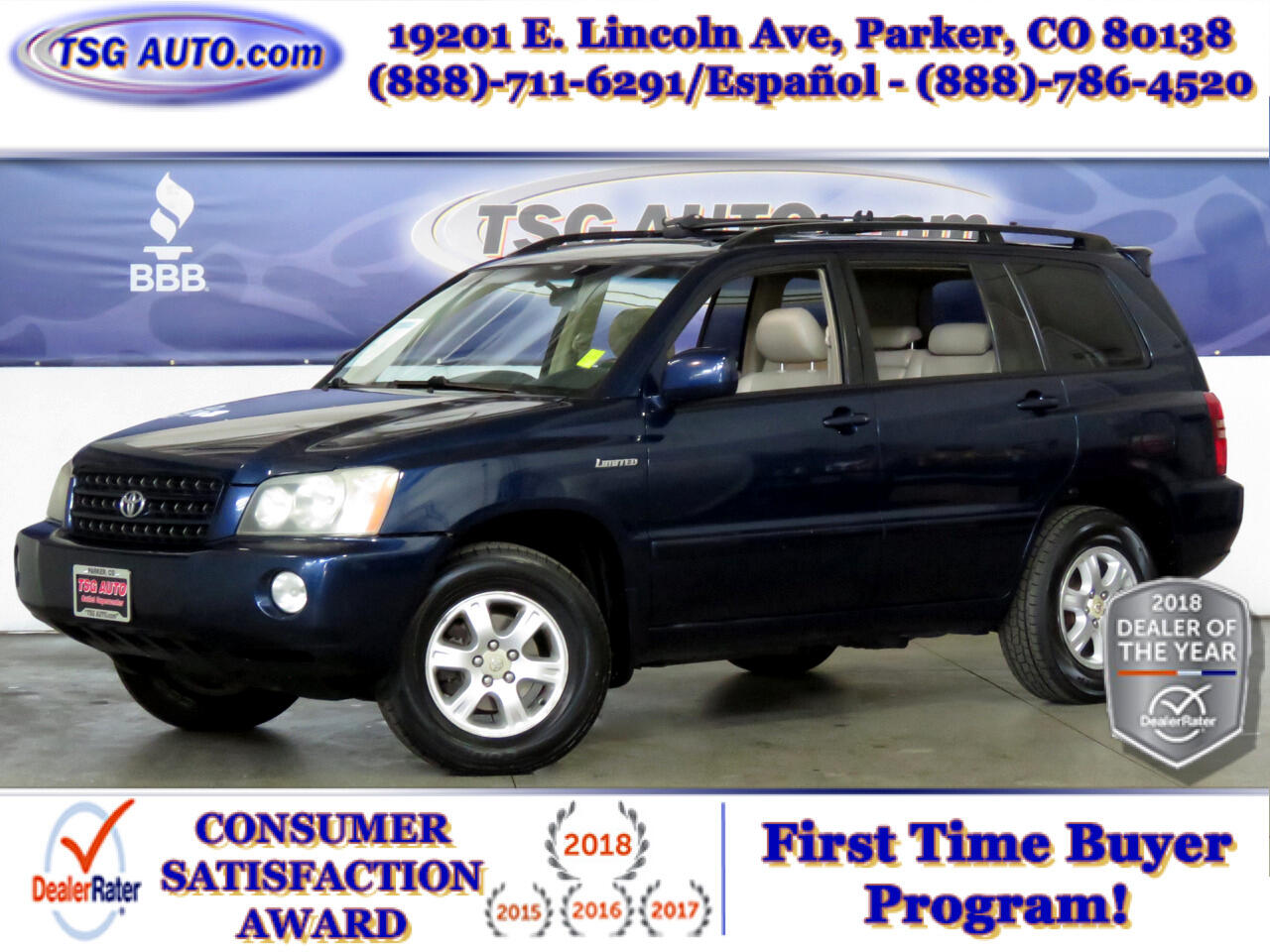 2002 Toyota Highlander 4dr V6 4WD Limited (Natl)