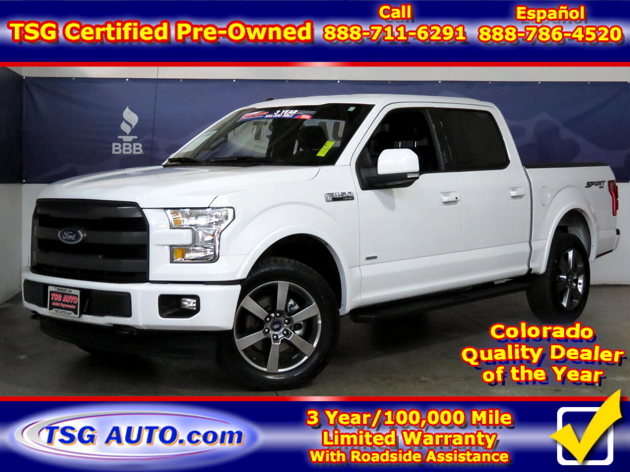 2017 Ford F-150 Lariat 4WD SuperCrew 5.5' Box