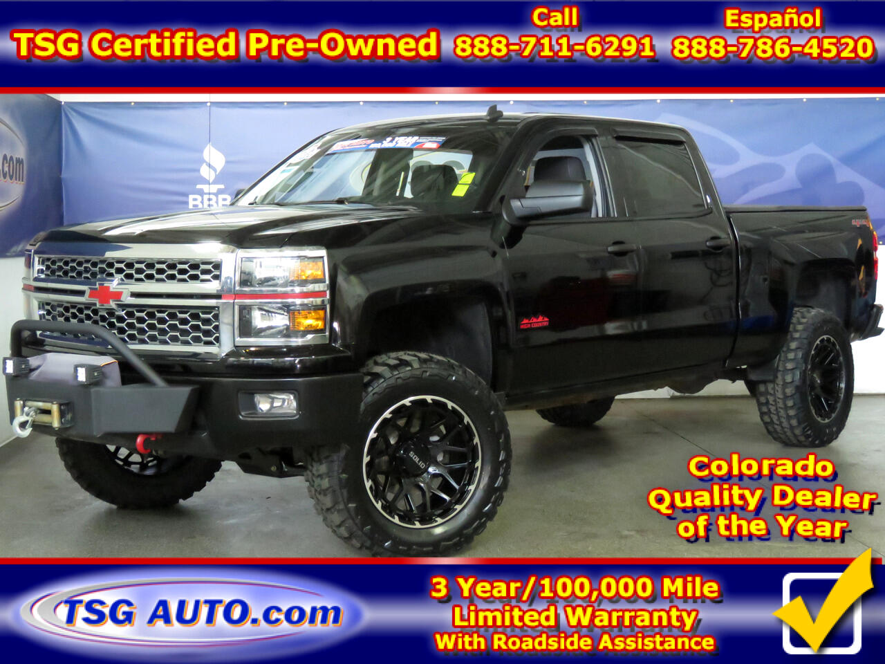 2014 Chevrolet Silverado 1500 LT Crew Cab 4WD W/Cstm Lift/Wheels/Tires/Winch