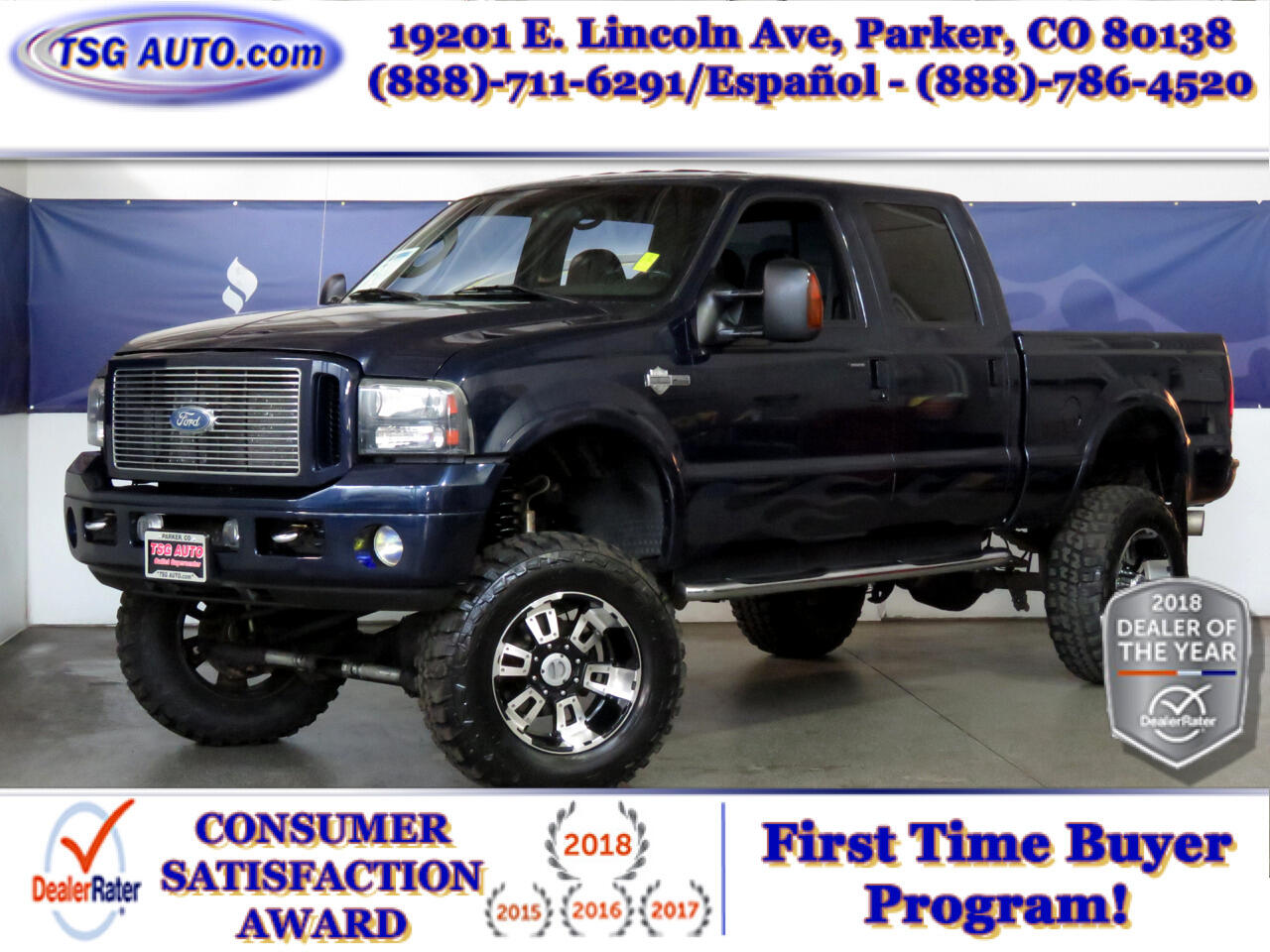 "2005 Ford Super Duty F-250 SRW Crew Cab 156"" Harley-Davidson 4WD W/Lift/Wheels"