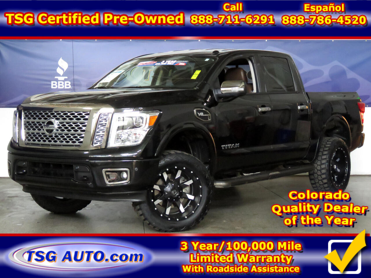 2017 Nissan Titan Platinum Reserve W/Custom Lift/Wheels/Tires