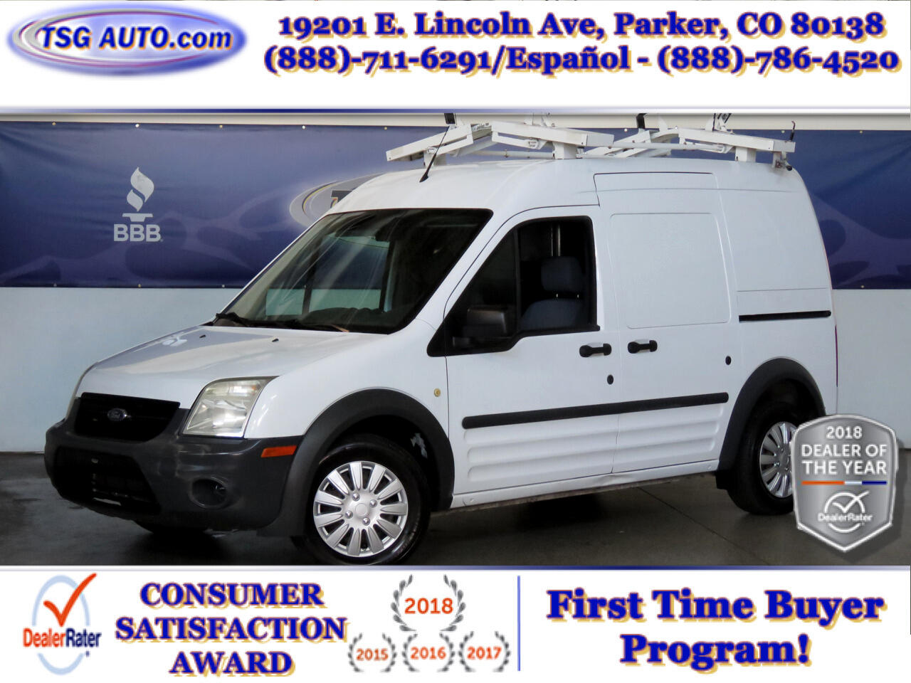 """2011 Ford Transit Connect 114.6"""" XL w/o side or rear door glass"""