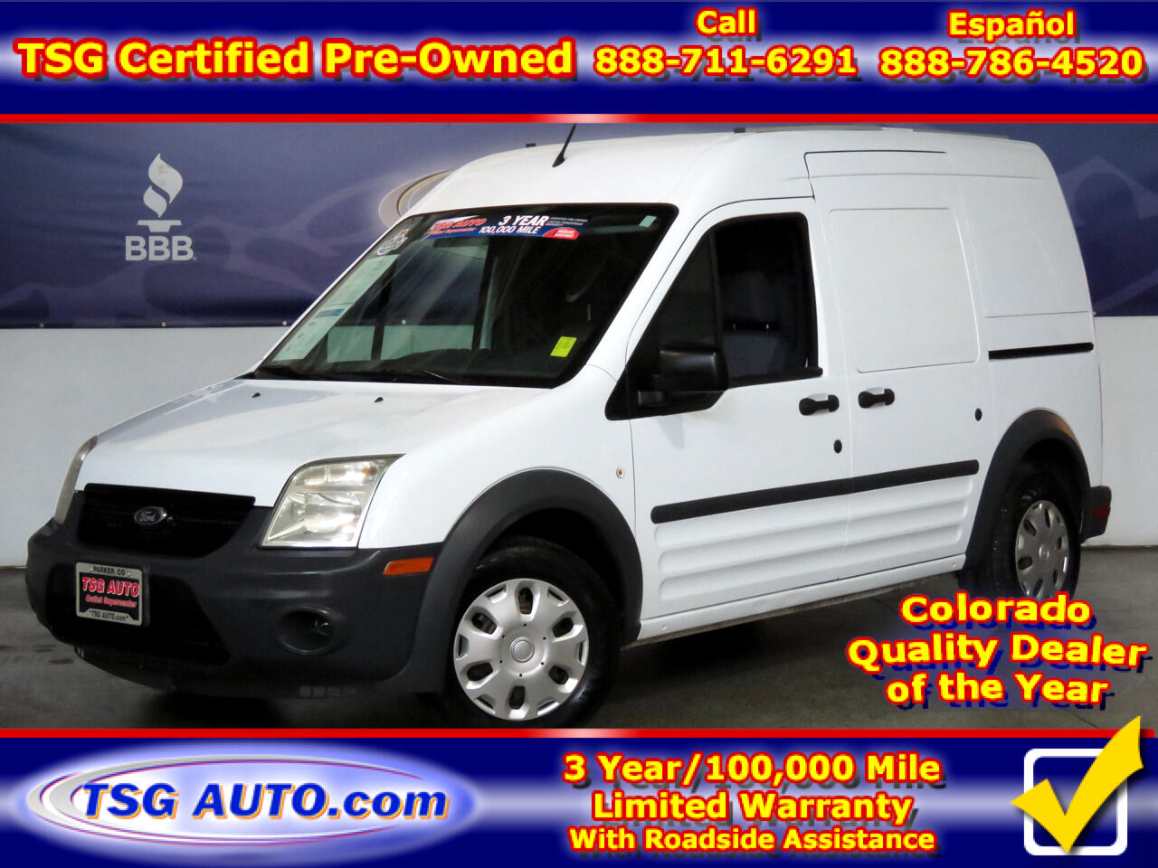 "2012 Ford Transit Connect 114.6"" XL w/rear door privacy glass"