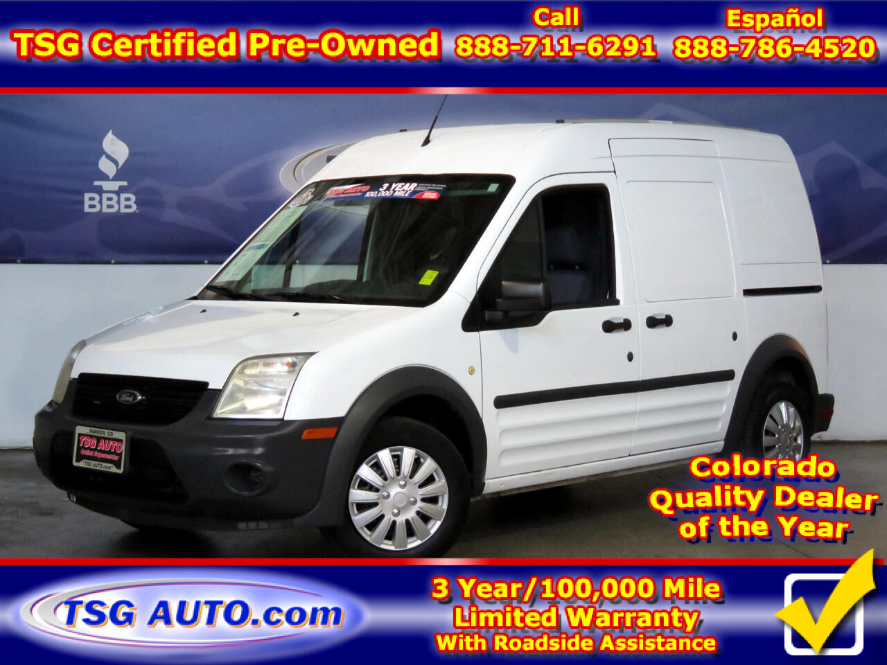 "2013 Ford Transit Connect 114.6"" XL w/rear door privacy glass"