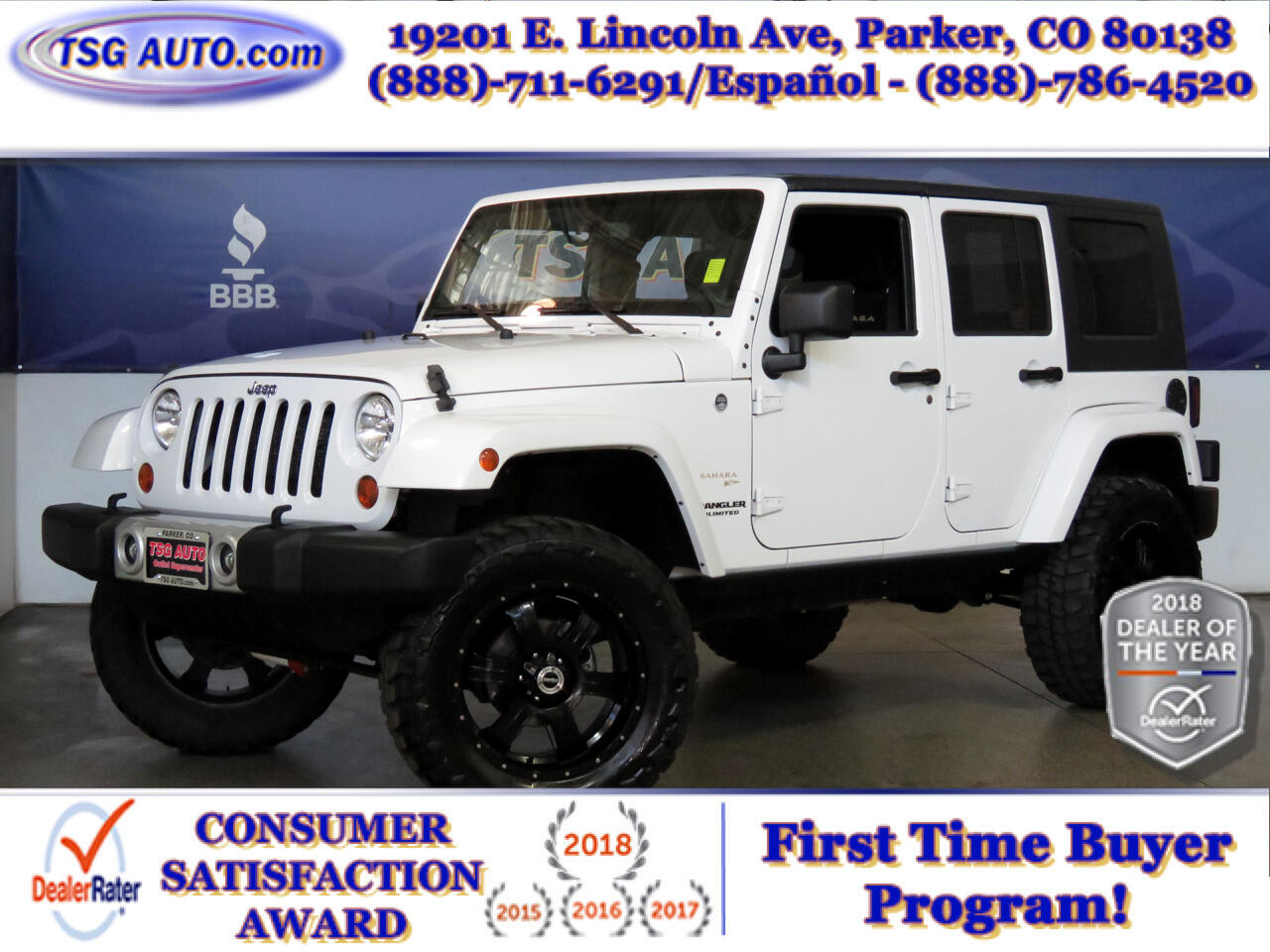 2013 Jeep Wrangler Unlimited 4WD 4dr Sahara W/Custom Lift/Wheels/Tires