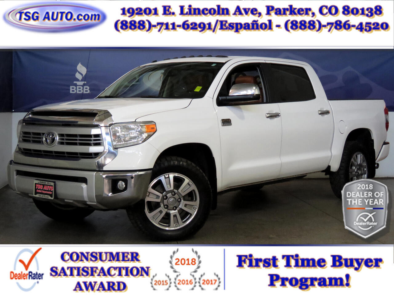 2015 Toyota Tundra 4WD Truck CrewMax 5.7L FFV V8 6-Spd AT 1794 Edition