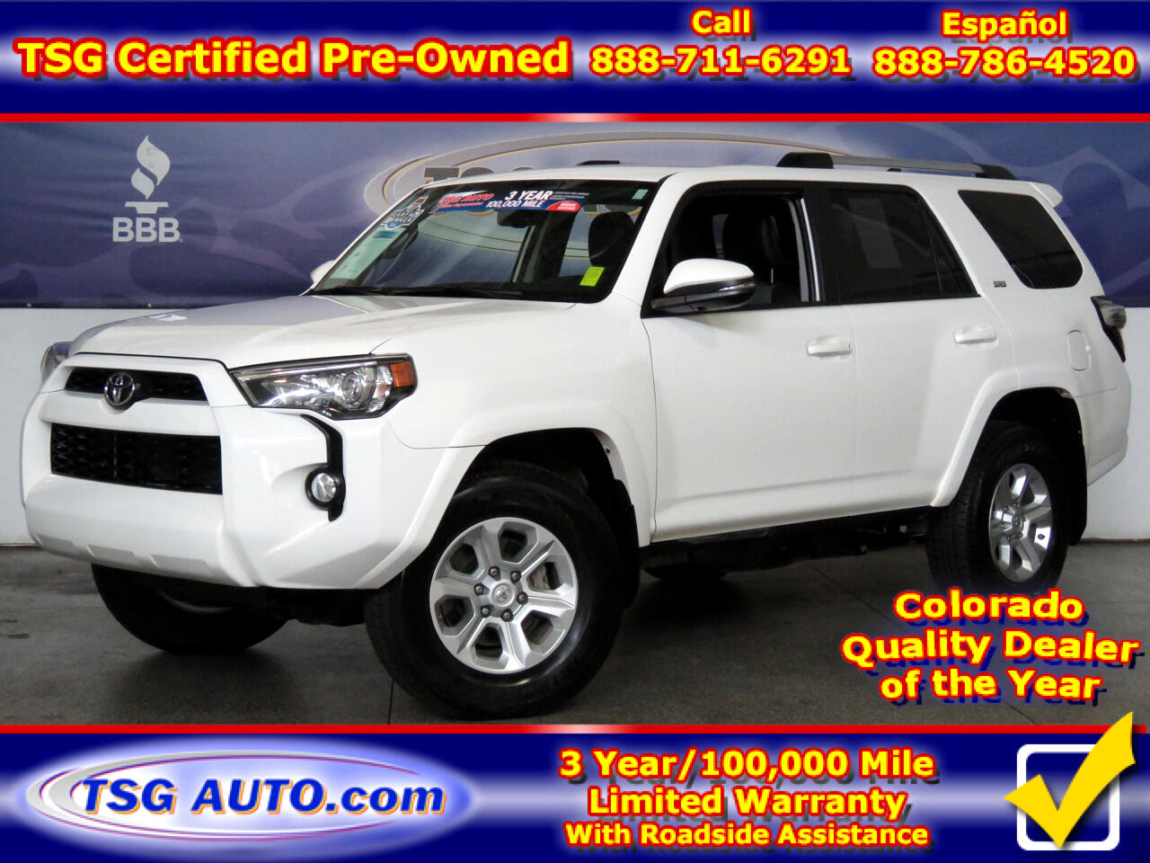 2019 Toyota 4Runner SR5 Premium 4WD W/Leather
