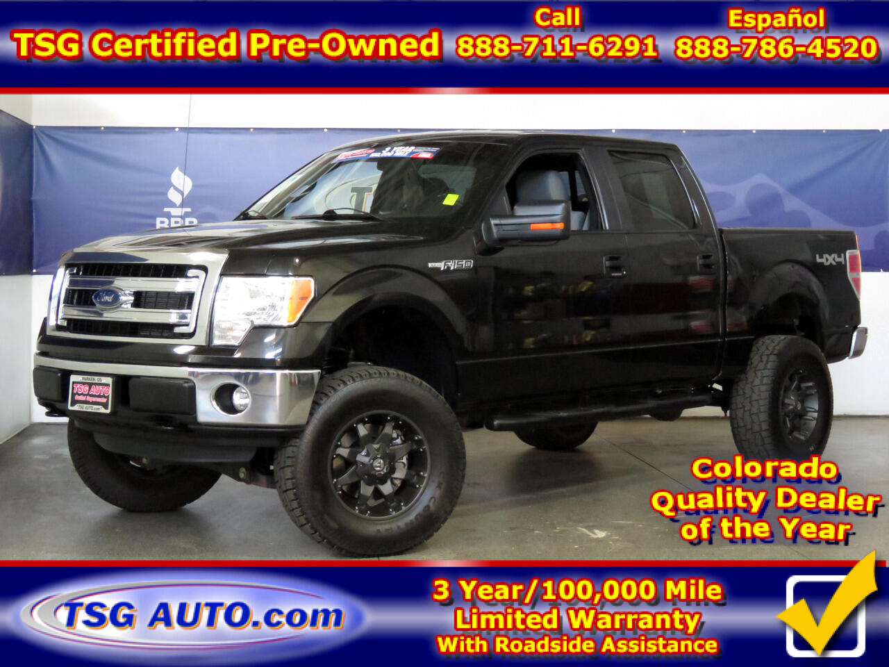 "2013 Ford F-150 4WD SuperCrew 145"" XLT W/Custom Lift/Wheels/Tires"
