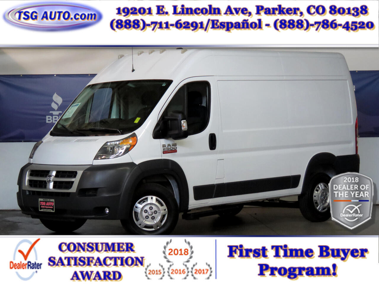 2015 RAM ProMaster Cargo Van 2500 High Roof 136