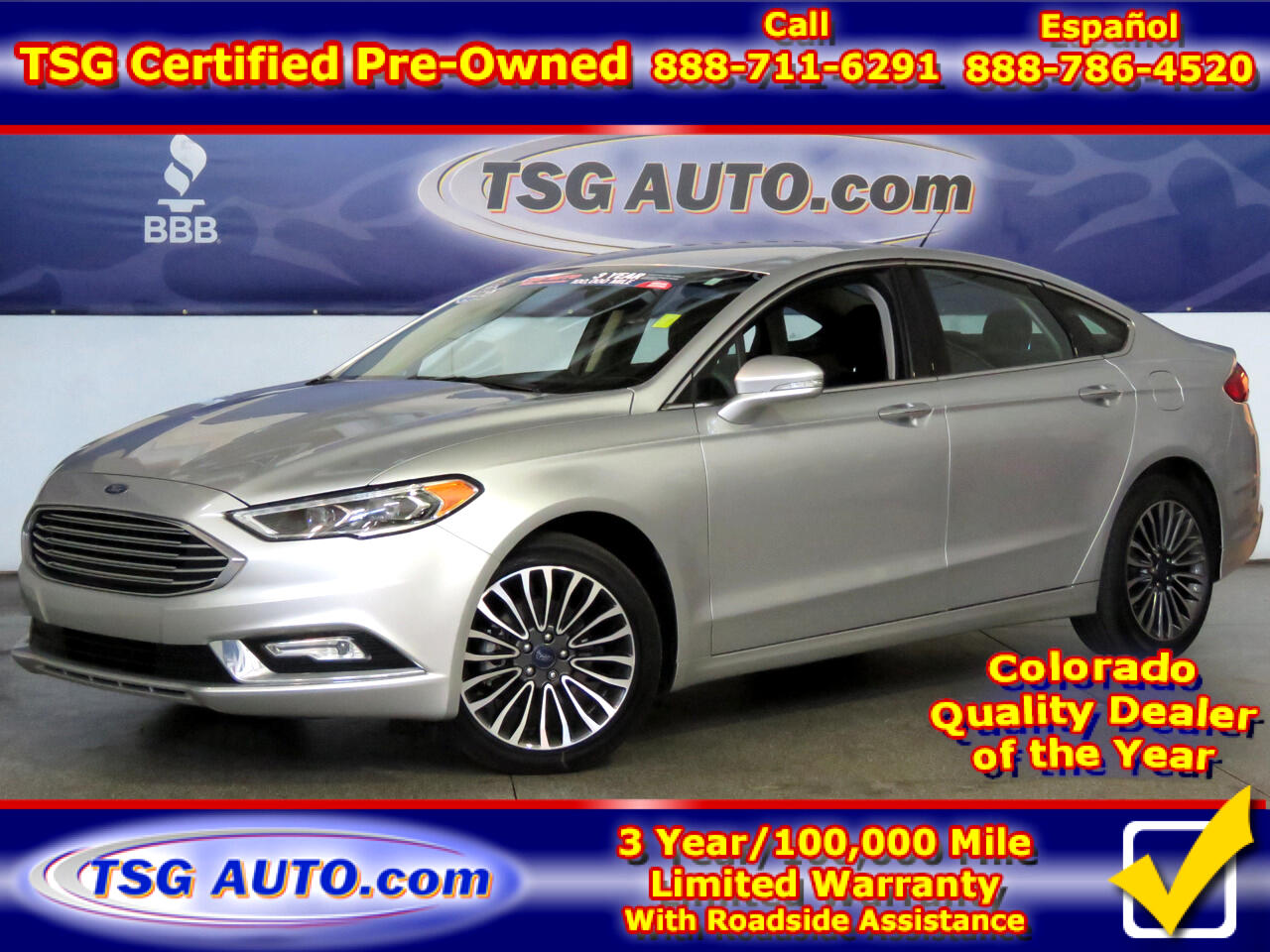 2017 Ford Fusion SE AWD W/Leather