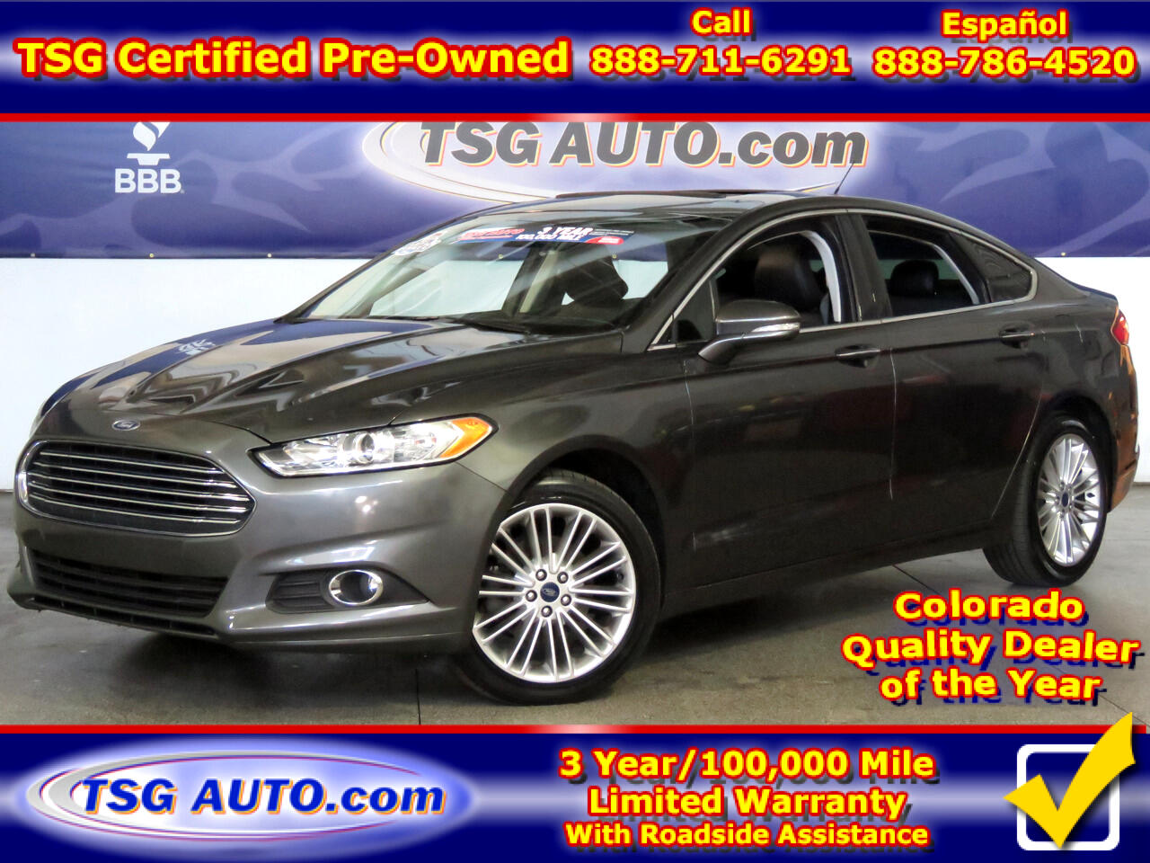 2016 Ford Fusion 4dr Sdn SE AWD W/Leather
